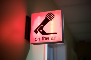 On Air sign at the News 1130 studios