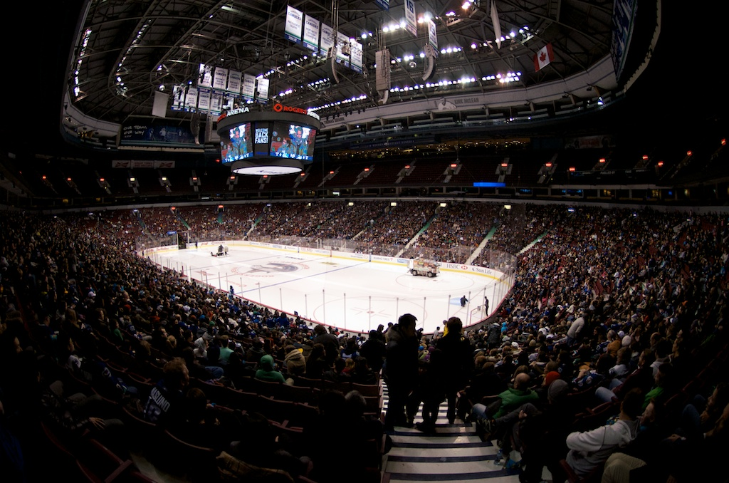 Rogers Arena was packed