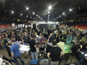 A GoPro view of the 3d printer village at MakerFaire 2012