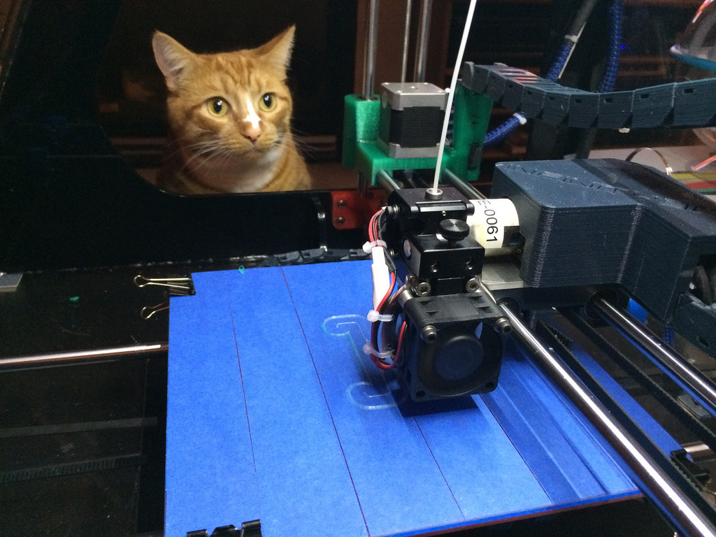 Pixel watches the 3D printer